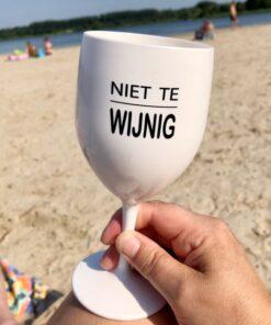 kunststof wijnglas niet te wijzig